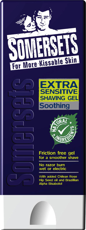 Somersets Sensitive Calming Shave Gel - 200ml - Click Image to Close